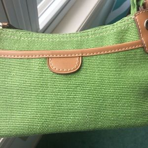 Small Green Fossil Purse Handbag with Short Strap